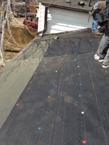roofing base sheet. it is the bottom waterproffing layer on a multilayer roofing membrane system.